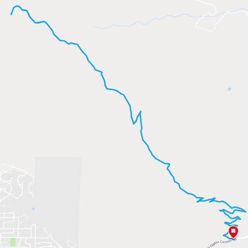 ben lomond running trail in utah