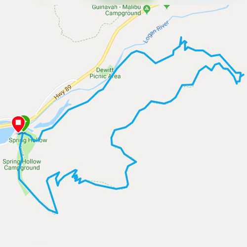 crimson running trail in Logan, Utah