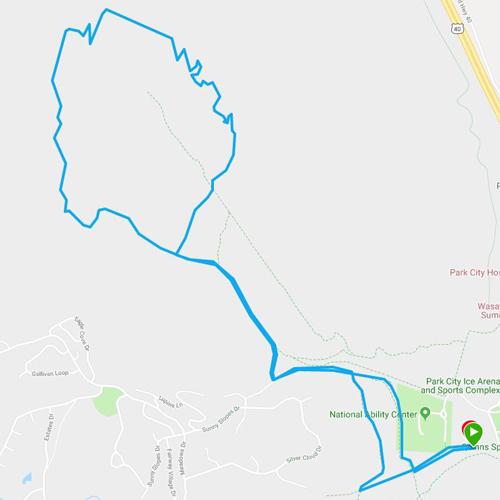 park city trail series 10K running map