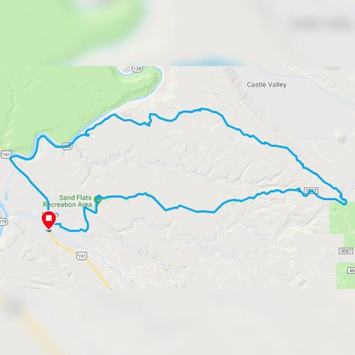 porcupine rim loop trail in moab