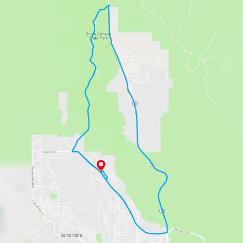 snow canyon loop trail in st george utah
