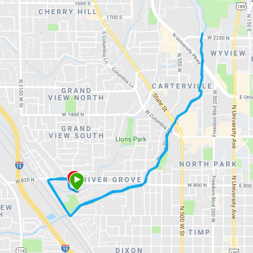 south provo river running trail