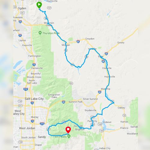 ultimate challenge running route in ogden utah
