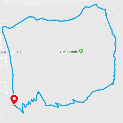 Y mountain loop run in provo utah