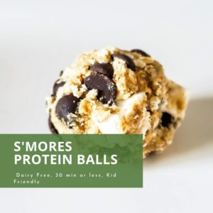 S'mores protein balls recipe
