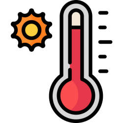 hot temperature icon